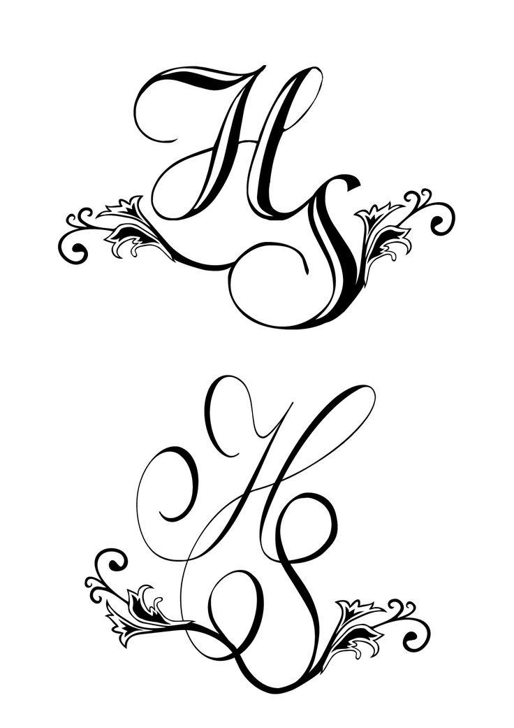 Monogram! Great idea for wedding invites, wax stamps, wedding cake!
