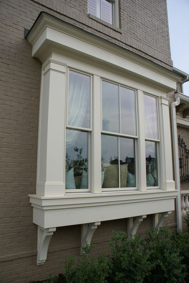 25 best ideas about exterior windows on pinterest black for Bay window remodel