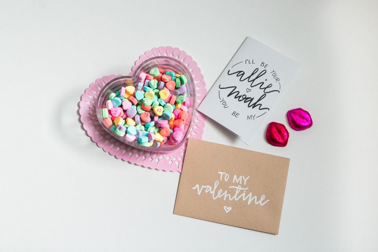 Inspired Idea: Hand Lettered Valentine's Day Cards