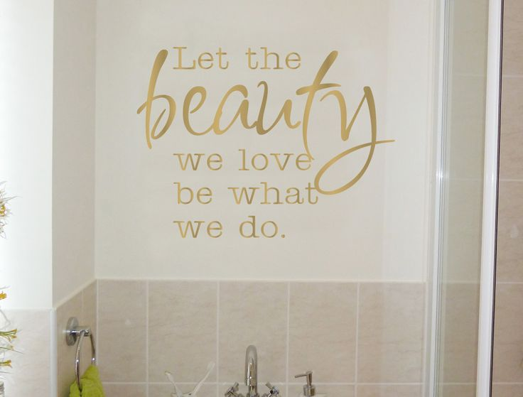 Beauty Wall Sticker | Inspirational Quotes Wall Art