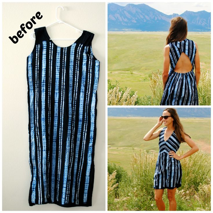 Thrifted refashion. Love this! So good for the vast majority of things found at good will.