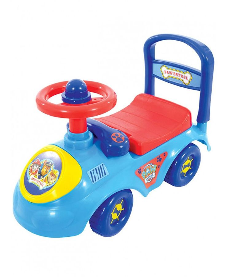 Little Paw Patrol fans will love this Paw Patrol My First Ride On. It includes a fun steering wheel with squeaker horn and a removable play phone and the colourful graphics feature Chase, Marshall and Rubble. What's more the under seat storage means you can take along your books, toys and other items