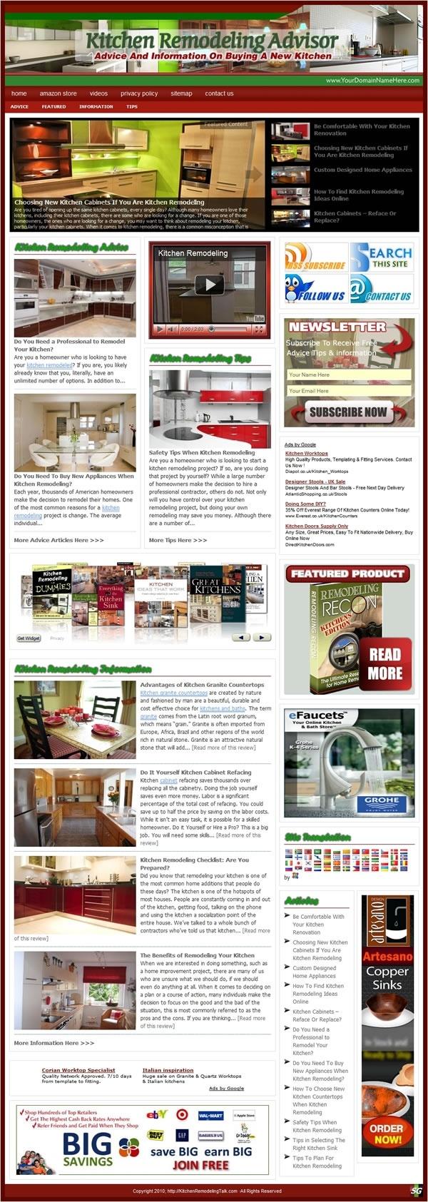 Kitchen remodeling website turnkey websites for sale for Best home remodeling websites
