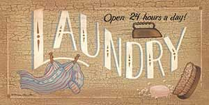 """""""Art Print of 24 Hour Laundry"""" - Laundry room decor available at Barewalls.com"""
