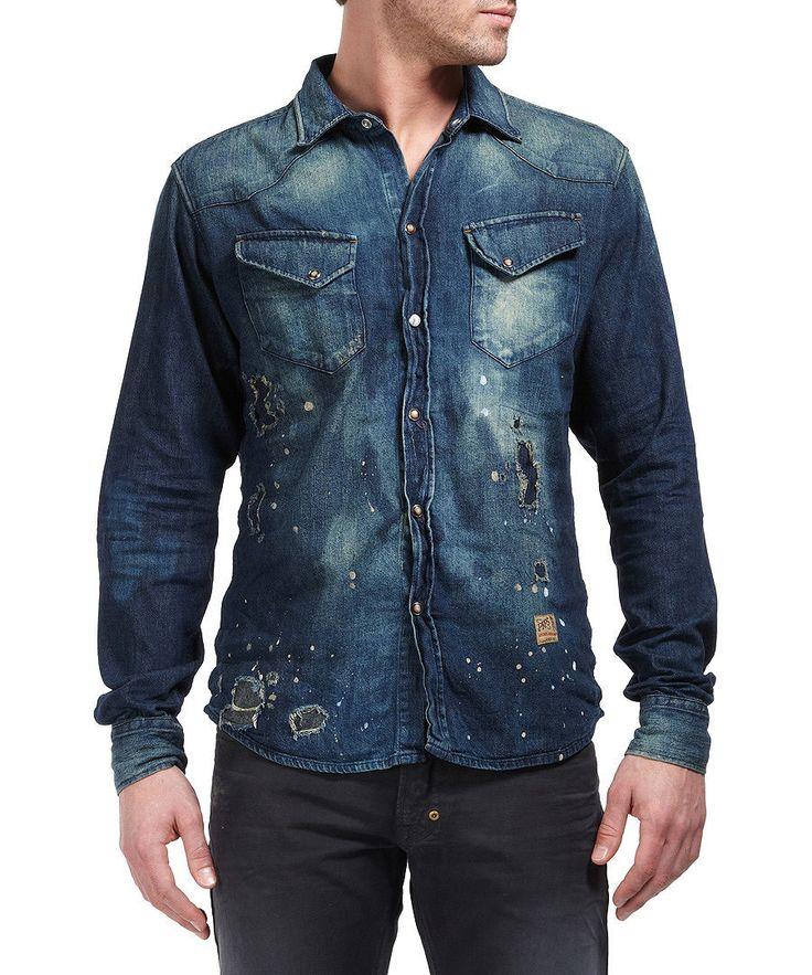 Western shirt in indigo Sale - Prps Goods & Co