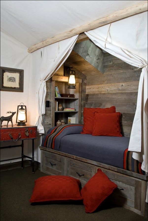 crunchylipstick: Unbelievable barn style bedroom design ideas :: This is crazy great! I wonder if I could pull it off!