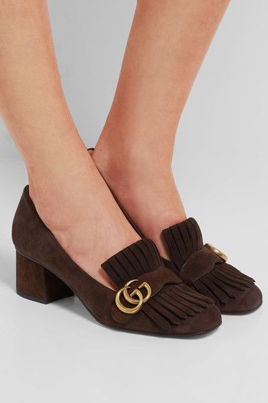 Gucci - Fringed Suede Pumps - Brown - IT