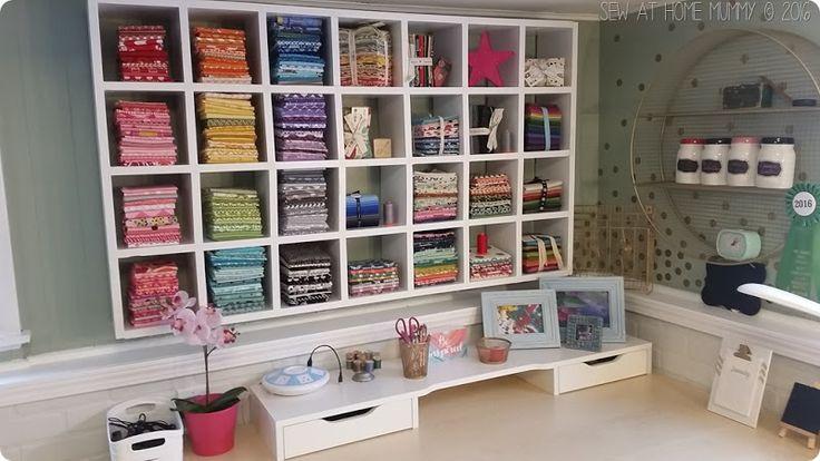 splendidi stanza del cucito e di stoccaggio tessuto idee - di tabella diy macchina da cucire e su come costruire il proprio scaffale tessuto