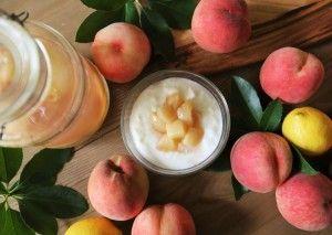 8月のスペシャル:白ワインと桃のコンポート