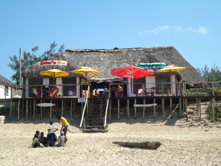 Dino's Bar on the Tofo Beach in Inhambane Province in Mozambique - a personal favourite