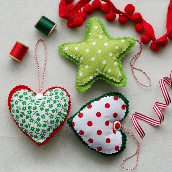 Adornos de fieltro para el árbol de Navidad I Felt decoration for the Christmas tree