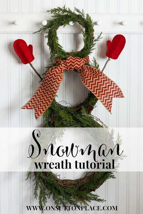 DIY Snowman Wreath Tutorial | includes easy directions and photos from onsuttonplace.com