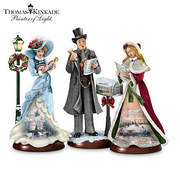 Victorian Carolers Figurines: 1000+ Images About Thomas Kinkade Snow Globes &gif On
