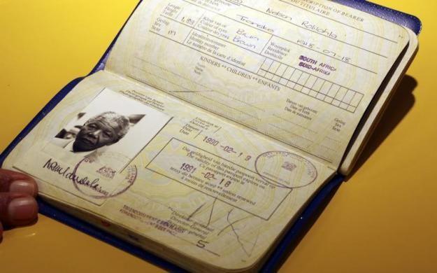 The apartheid-era passport of Nelson Rolihlahla Mandela