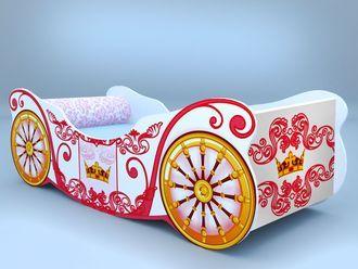 """Кровать карета """"Корона белая"""""""