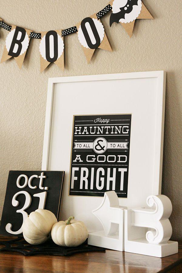 Happy Haunting Halloween Printable