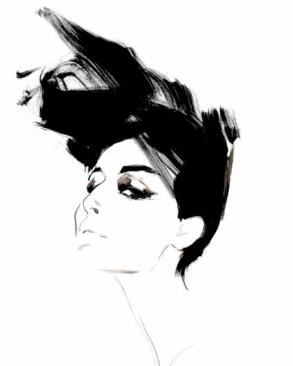 Fashion #illustration #portrait