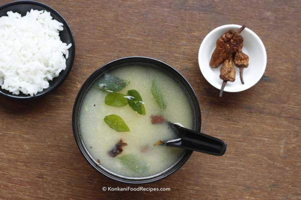 Potato Rasam Recipe (Batate Thoy) Too lazy to cook? Need comfort food & a quick fix dinner recipe?  Here's an easy recipe for you. Just make some rice, potato rasam & enjoy them with some buttermilk chillies.