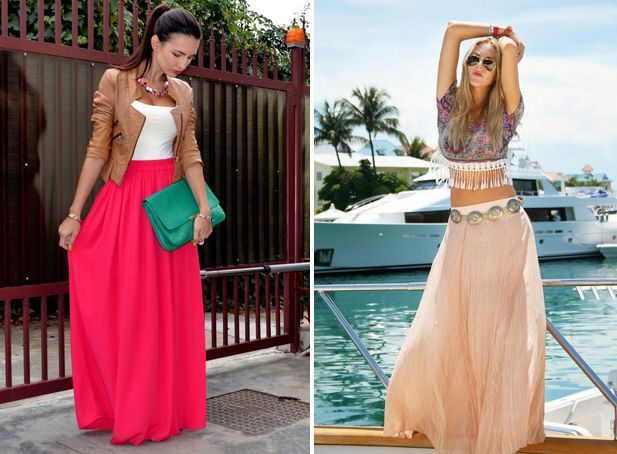 How To Wear Maxi Skirts - Fashion Trends, Makeup Tutorials, Hairstyles and Style Secrets, The last one is my fav.