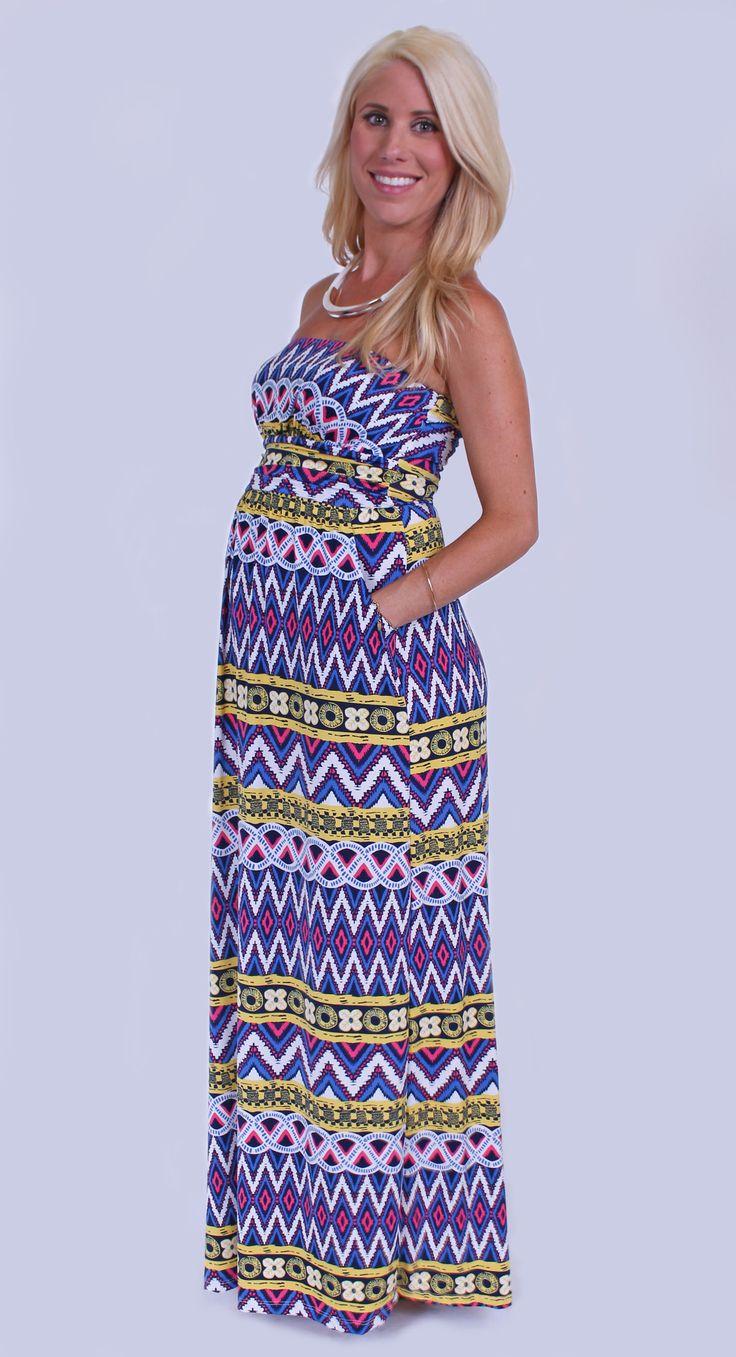 Spring maternity maxi dress