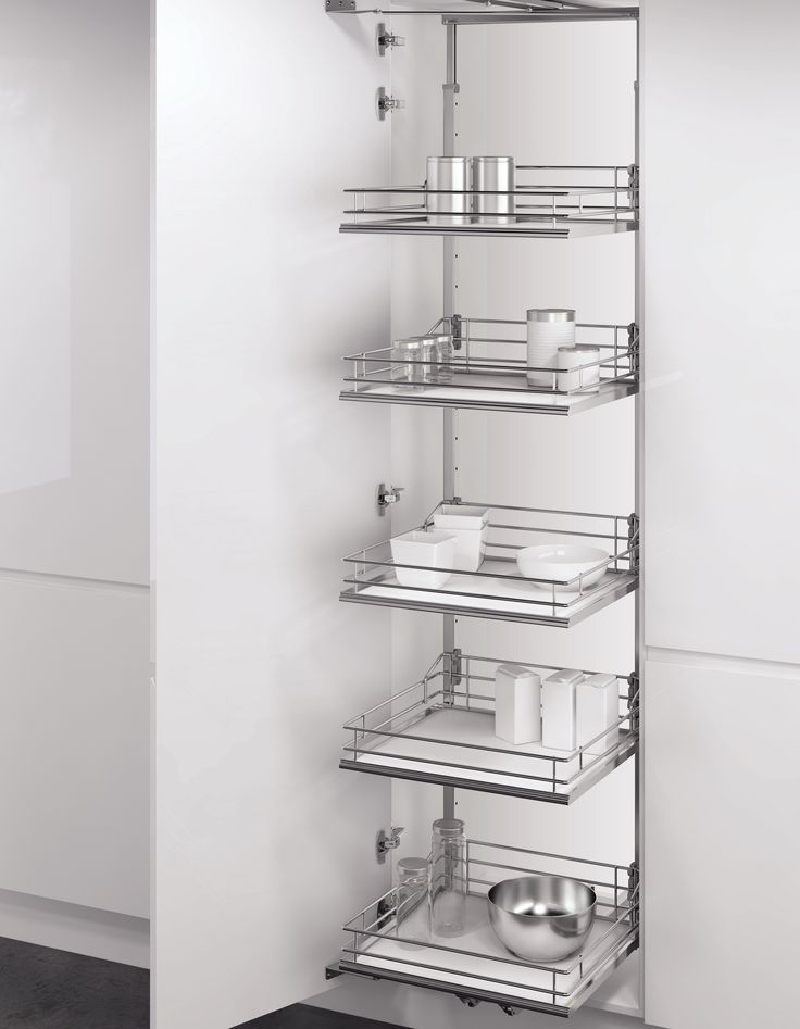 Vauth-Sagel's VSA Pull Out Tower Pantry Unit with Premea solid base shelves