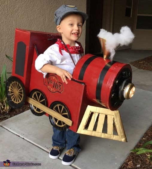 "FOR YOUNGER KIDS:   ""Conductor and Vintage Train""  ♥♥ #Halloween"