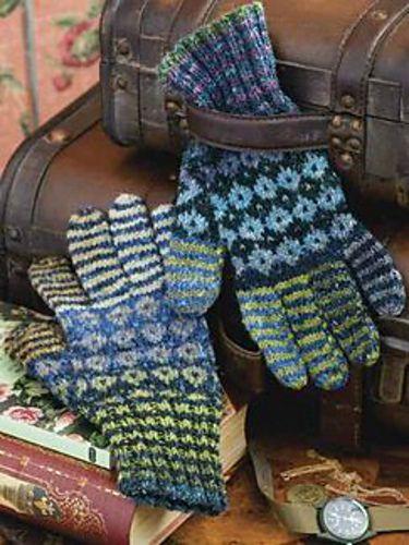 Ravelry: Diamonds & Stripes Gloves pattern by Cheryl Murray