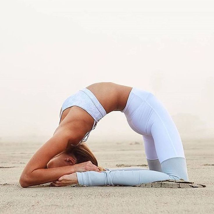 Amazing backbend by @SjanaElise. She is sporting the Goddess Bra & Goddess Legging. #aloyoga #beagoddess