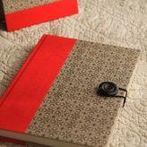 背上製本のジャーナルノート(レッド×クラフト)