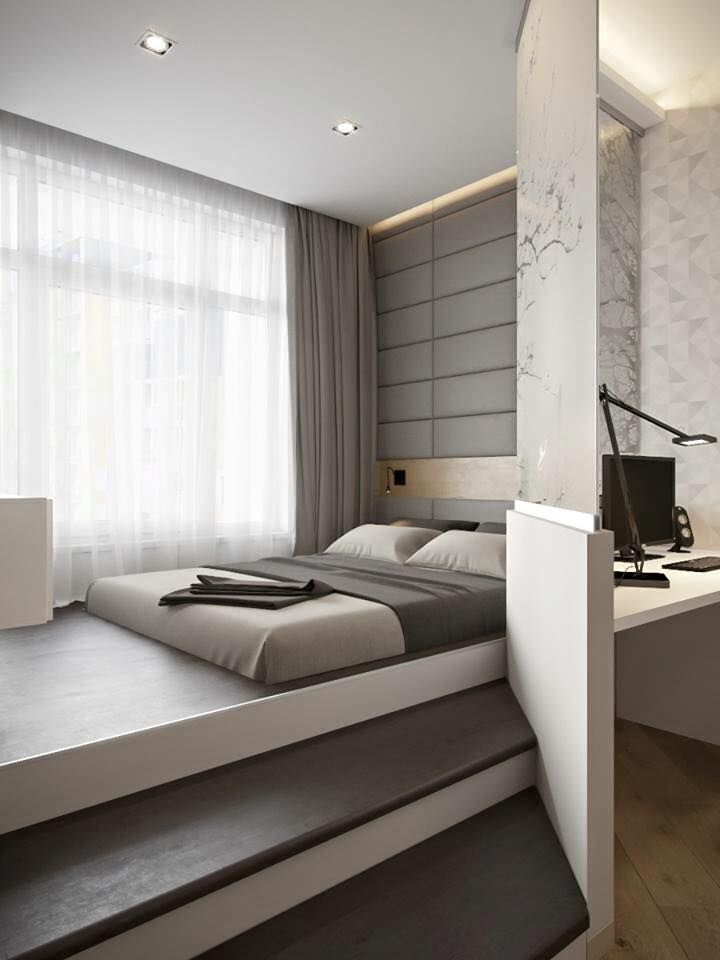 une chambre minimaliste et contemporaine wwwm habitatfr - Ideas For A Modern Bedroom