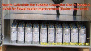 How To Convert Capacitor Farads Into Kvar Vice Versa For Power Factor Capacitor Kvar Power