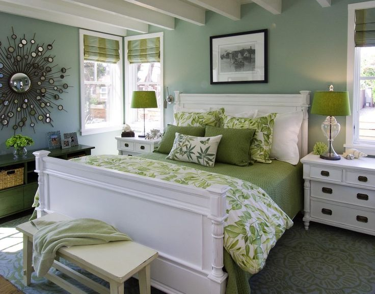 green bedroom walls beach style architects and designers with contemporary throw blankets Bedroom