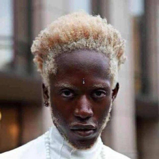 Black Person Naturally Brown Hair