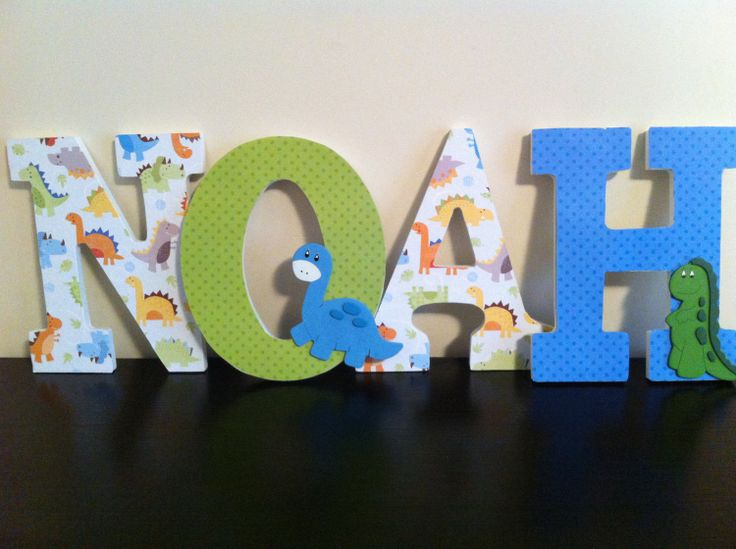 Dinosaur Wooden Letters Nursery Letters Wall by BabeeCakesBoutique, $14.00