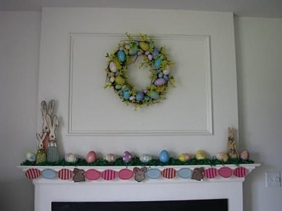Mantel  Decorations : IDEAS &  INSPIRATIONS : Stylish Easter Mantel Decorating Ideas