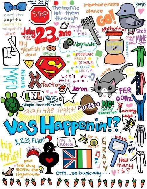 you know youre a directioner when you know what each thing in this picture means. I know it's about all of the boys, Ana, but I thought it was cool. XD