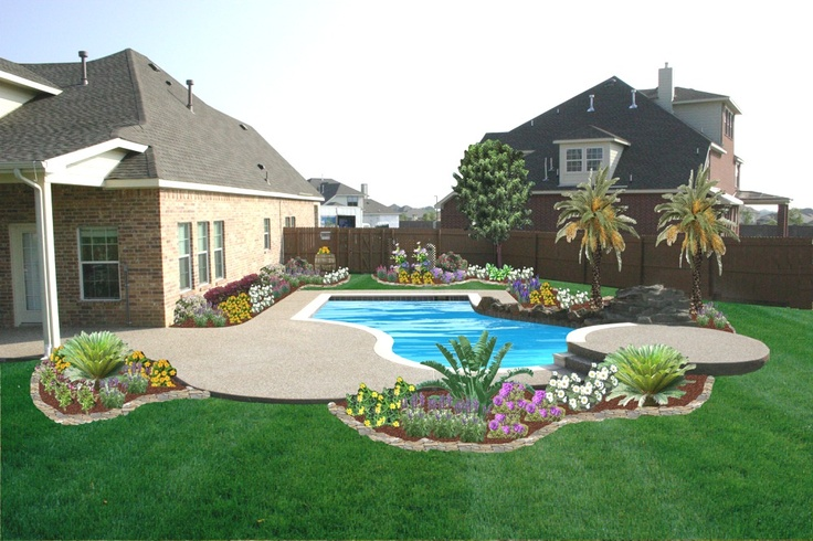 Simple Backyard Pool Landscaping Ideas