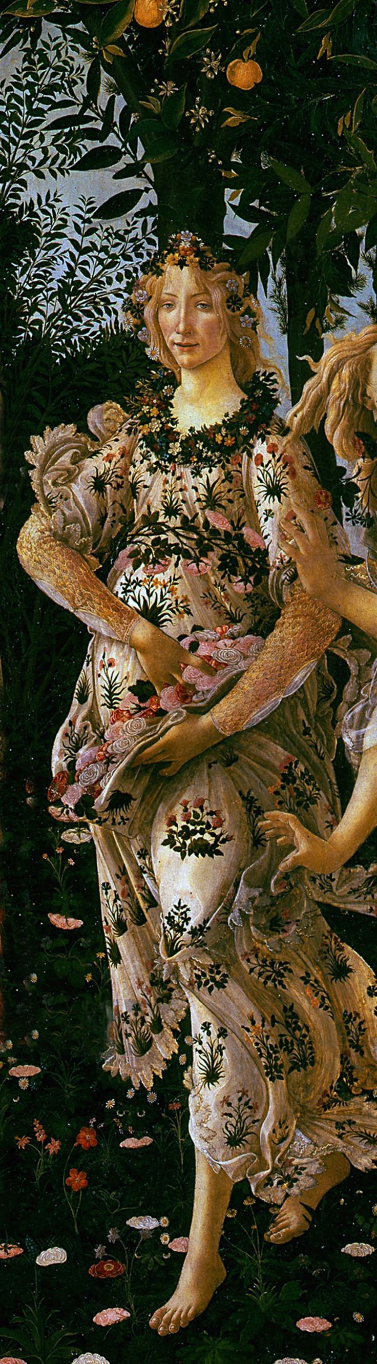 Sandro Botticelli, detail from 'La Primavera - An Allegory of Spring'' c.1482 - Painting / Art / Artwork