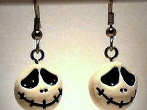 Ohrringe Skull aus Fimo handgemacht Edelstahl