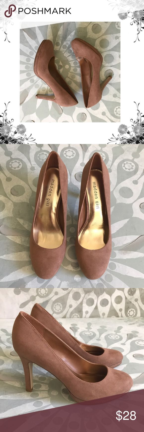 "Madden Girl 'Dolce' Dark Nude Faux Suede Pumps Manufacturer Color is Dark Nude. New with box. Classic pumps. Heel Height is approx 3 3/4"". Platform Height is approx 1/2"". Slip On. Faux Suede fabric. Bundle for discounts! Thank you for shopping my closet! Madden Girl Shoes Heels"