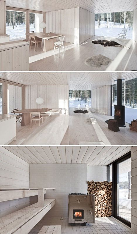 This simple design feels clean and cozy