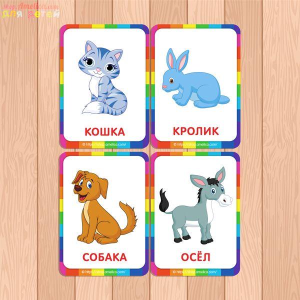 Карточки с картинками для малыша