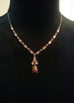 Adjustable light brown necklace