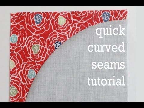 Quick Curved Seams Tutorial ~ pretty much the easiest method I've seen (obviously - if you're are sewing pieced curves, you'll need to be certain your SA is accurate)