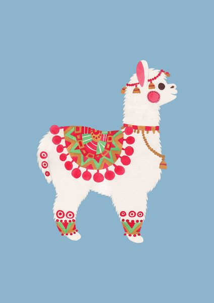 The Alpaca Art Print