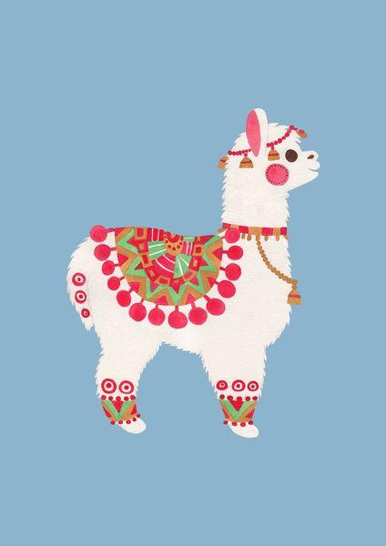 The Alpaca Art Print