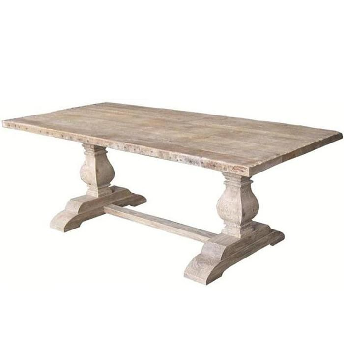 Nebraska Furniture Mart Imports By Four Hands Rectangular Dining Table With Double Sculptured Bases