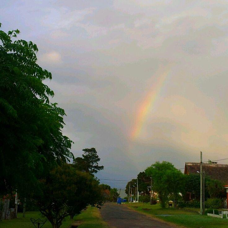 #stormy #rainbow #beauty