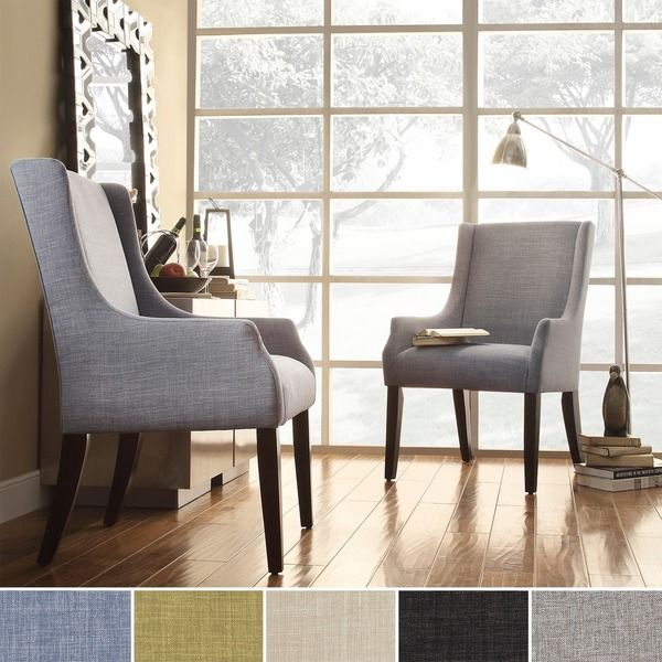 Distinguish Your Dining Room With The Jourdan Sloped Arm Hostess Chair By  Inspire Q. Upholstered In A Plush Linen Upholstery, This Deep Seat Chair  Offers ...