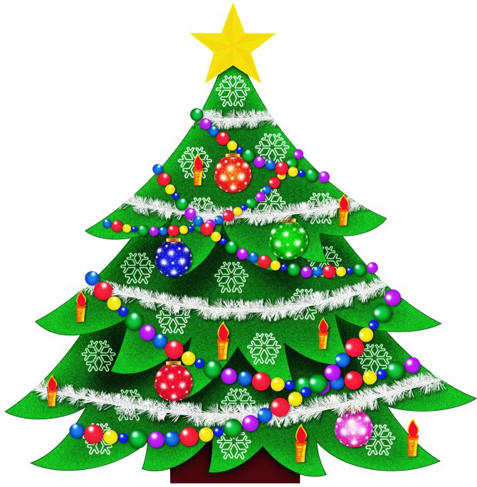 CHRISTMAS TREE CLIP ART | Christmas tree images, Christmas ...